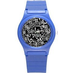 Panic ! At The Disco Lyric Quotes Round Plastic Sport Watch (s) by Onesevenart