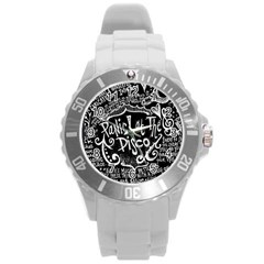 Panic ! At The Disco Lyric Quotes Round Plastic Sport Watch (l) by Onesevenart