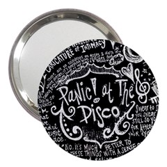Panic ! At The Disco Lyric Quotes 3  Handbag Mirrors by Onesevenart