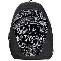 Panic ! At The Disco Lyric Quotes Backpack Bag by Onesevenart