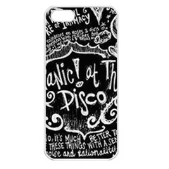 Panic ! At The Disco Lyric Quotes Apple Iphone 5 Seamless Case (white) by Onesevenart