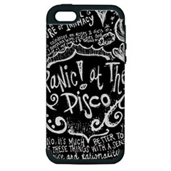 Panic ! At The Disco Lyric Quotes Apple Iphone 5 Hardshell Case (pc+silicone) by Onesevenart