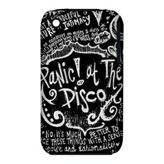 Panic ! At The Disco Lyric Quotes Apple Iphone 3g/3gs Hardshell Case (pc+silicone) by Onesevenart
