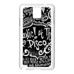 Panic ! At The Disco Lyric Quotes Samsung Galaxy Note 3 N9005 Case (white) by Onesevenart