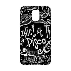 Panic ! At The Disco Lyric Quotes Samsung Galaxy S5 Hardshell Case  by Onesevenart