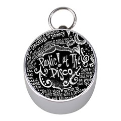Panic ! At The Disco Lyric Quotes Mini Silver Compasses by Onesevenart