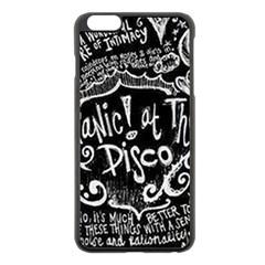 Panic ! At The Disco Lyric Quotes Apple Iphone 6 Plus/6s Plus Black Enamel Case by Onesevenart