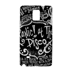 Panic ! At The Disco Lyric Quotes Samsung Galaxy Note 4 Hardshell Case by Onesevenart