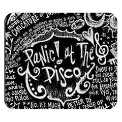 Panic ! At The Disco Lyric Quotes Double Sided Flano Blanket (small)  by Onesevenart