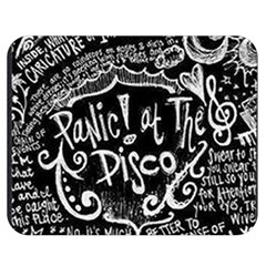 Panic ! At The Disco Lyric Quotes Double Sided Flano Blanket (medium)  by Onesevenart