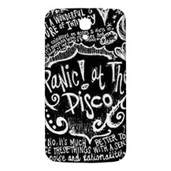 Panic ! At The Disco Lyric Quotes Samsung Galaxy Mega I9200 Hardshell Back Case by Onesevenart