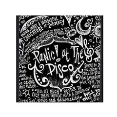 Panic ! At The Disco Lyric Quotes Small Satin Scarf (square) by Onesevenart
