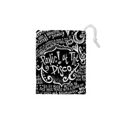 Panic ! At The Disco Lyric Quotes Drawstring Pouches (xs)  by Onesevenart