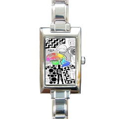 Panic ! At The Disco Rectangle Italian Charm Watch by Onesevenart