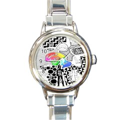 Panic ! At The Disco Round Italian Charm Watch by Onesevenart