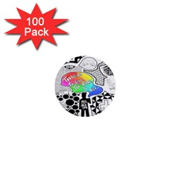 Panic ! At The Disco 1  Mini Buttons (100 Pack)  by Onesevenart
