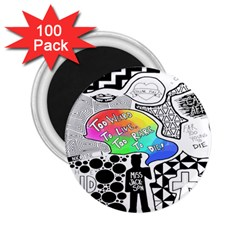 Panic ! At The Disco 2 25  Magnets (100 Pack)  by Onesevenart