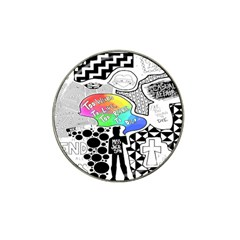 Panic ! At The Disco Hat Clip Ball Marker (4 Pack) by Onesevenart