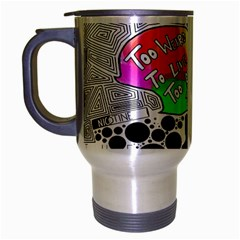 Panic ! At The Disco Travel Mug (silver Gray) by Onesevenart