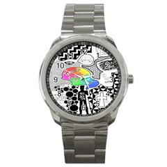 Panic ! At The Disco Sport Metal Watch by Onesevenart