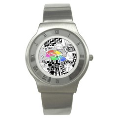 Panic ! At The Disco Stainless Steel Watch by Onesevenart