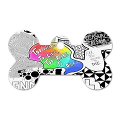 Panic ! At The Disco Dog Tag Bone (two Sides) by Onesevenart