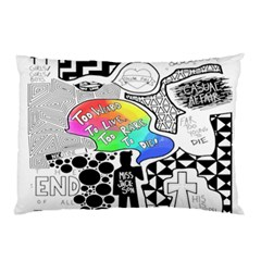 Panic ! At The Disco Pillow Case by Onesevenart