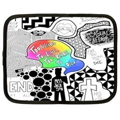 Panic ! At The Disco Netbook Case (xxl)  by Onesevenart