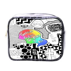 Panic ! At The Disco Mini Toiletries Bags by Onesevenart