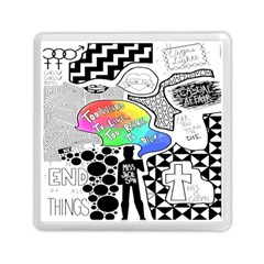 Panic ! At The Disco Memory Card Reader (square)  by Onesevenart