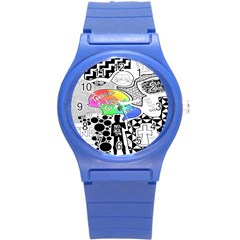 Panic ! At The Disco Round Plastic Sport Watch (s) by Onesevenart