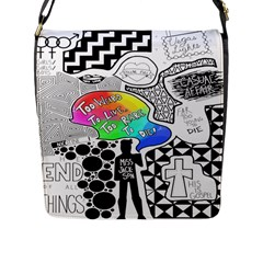 Panic ! At The Disco Flap Messenger Bag (l)  by Onesevenart