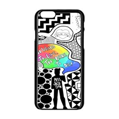 Panic ! At The Disco Apple Iphone 6/6s Black Enamel Case by Onesevenart