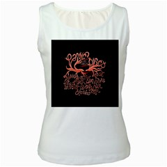 Panic At The Disco   Lying Is The Most Fun A Girl Have Without Taking Her Clothes Women s White Tank Top by Onesevenart