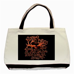 Panic At The Disco   Lying Is The Most Fun A Girl Have Without Taking Her Clothes Basic Tote Bag (two Sides) by Onesevenart