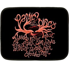 Panic At The Disco   Lying Is The Most Fun A Girl Have Without Taking Her Clothes Fleece Blanket (mini) by Onesevenart