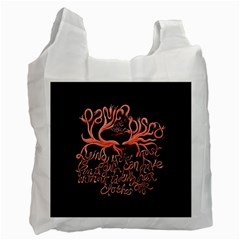 Panic At The Disco   Lying Is The Most Fun A Girl Have Without Taking Her Clothes Recycle Bag (two Side)  by Onesevenart