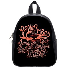 Panic At The Disco   Lying Is The Most Fun A Girl Have Without Taking Her Clothes School Bags (small)  by Onesevenart