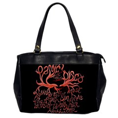 Panic At The Disco   Lying Is The Most Fun A Girl Have Without Taking Her Clothes Office Handbags by Onesevenart