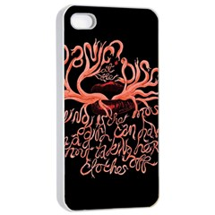 Panic At The Disco   Lying Is The Most Fun A Girl Have Without Taking Her Clothes Apple Iphone 4/4s Seamless Case (white) by Onesevenart