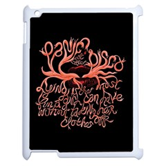 Panic At The Disco   Lying Is The Most Fun A Girl Have Without Taking Her Clothes Apple Ipad 2 Case (white) by Onesevenart