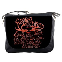 Panic At The Disco   Lying Is The Most Fun A Girl Have Without Taking Her Clothes Messenger Bags by Onesevenart