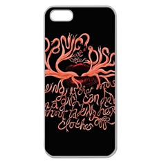 Panic At The Disco   Lying Is The Most Fun A Girl Have Without Taking Her Clothes Apple Seamless Iphone 5 Case (clear) by Onesevenart