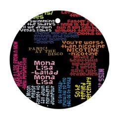 Panic At The Disco Northern Downpour Lyrics Metrolyrics Ornament (round)  by Onesevenart