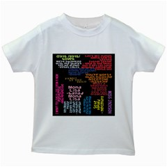 Panic At The Disco Northern Downpour Lyrics Metrolyrics Kids White T Shirts by Onesevenart