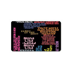 Panic At The Disco Northern Downpour Lyrics Metrolyrics Magnet (name Card) by Onesevenart