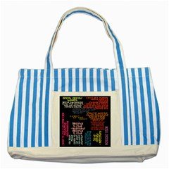 Panic At The Disco Northern Downpour Lyrics Metrolyrics Striped Blue Tote Bag by Onesevenart