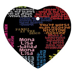 Panic At The Disco Northern Downpour Lyrics Metrolyrics Heart Ornament (2 Sides) by Onesevenart