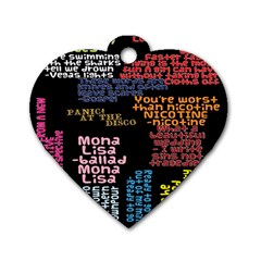 Panic At The Disco Northern Downpour Lyrics Metrolyrics Dog Tag Heart (one Side) by Onesevenart