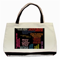 Panic At The Disco Northern Downpour Lyrics Metrolyrics Basic Tote Bag (two Sides) by Onesevenart